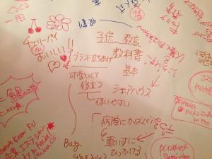 ワールドカフェで必須の模造紙。愛知県民には「B紙」という方がわかりやすいかな。